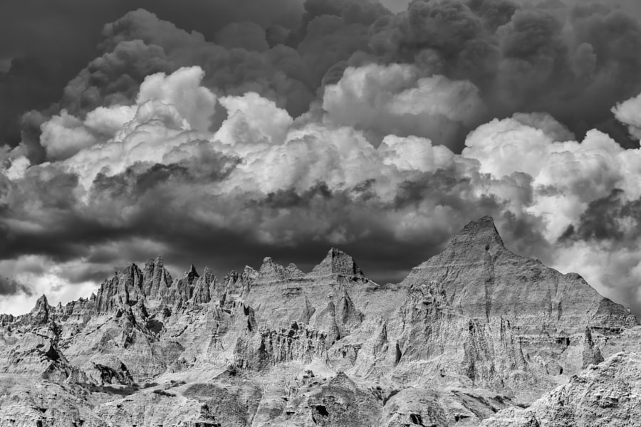 Jagged Ridges and Soft Clouds