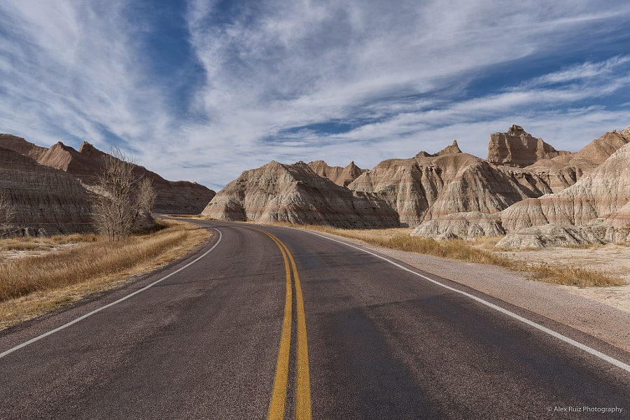 Road Through Badlands National Park