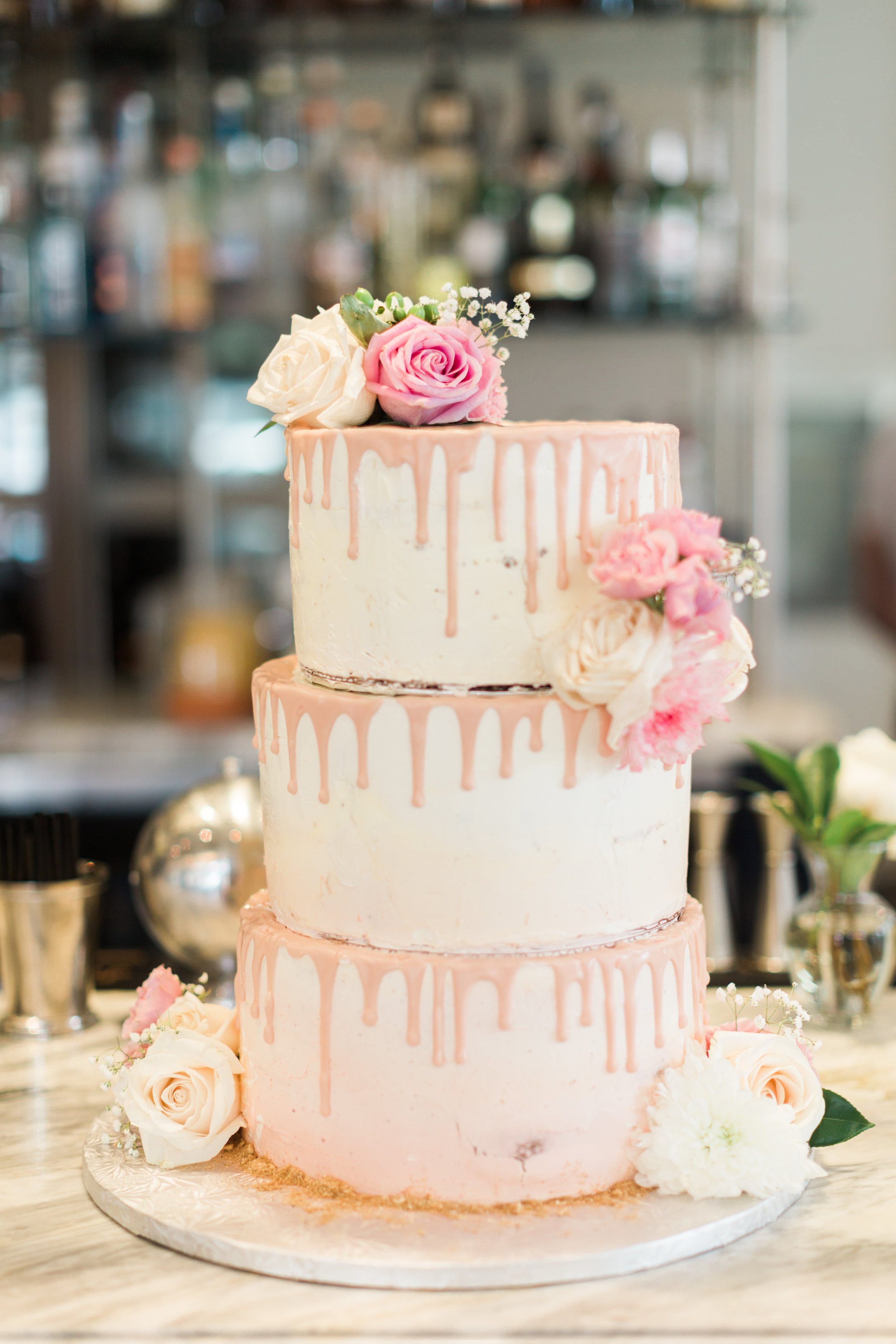 BLUUMBLVD Colette Grand Cafe Wedding - white and pink wedding cake.jpg