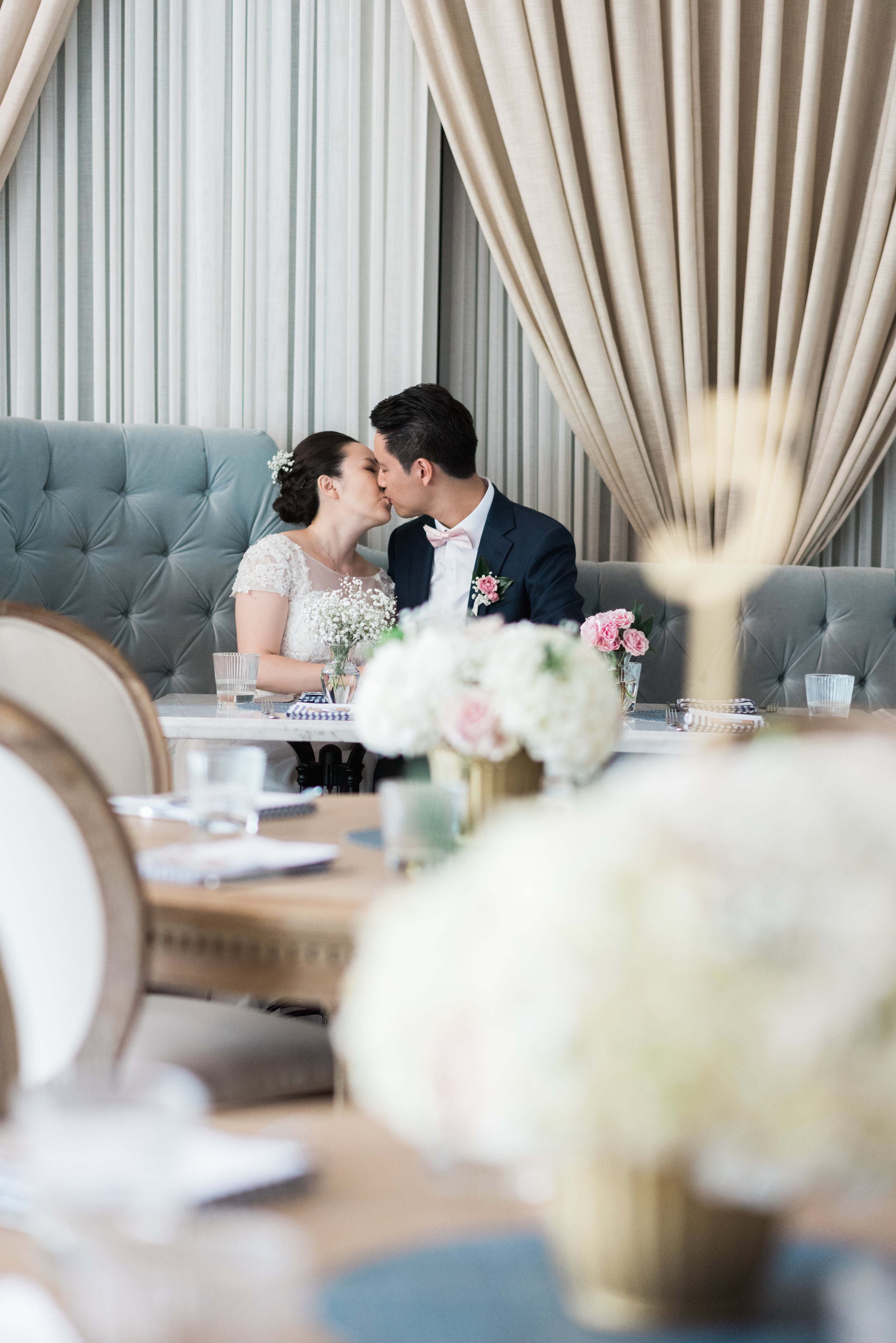 BLUUMBLVD Inside Colette Grand Cafe Wedding - White Hydrangea centerpiece-44.jpg