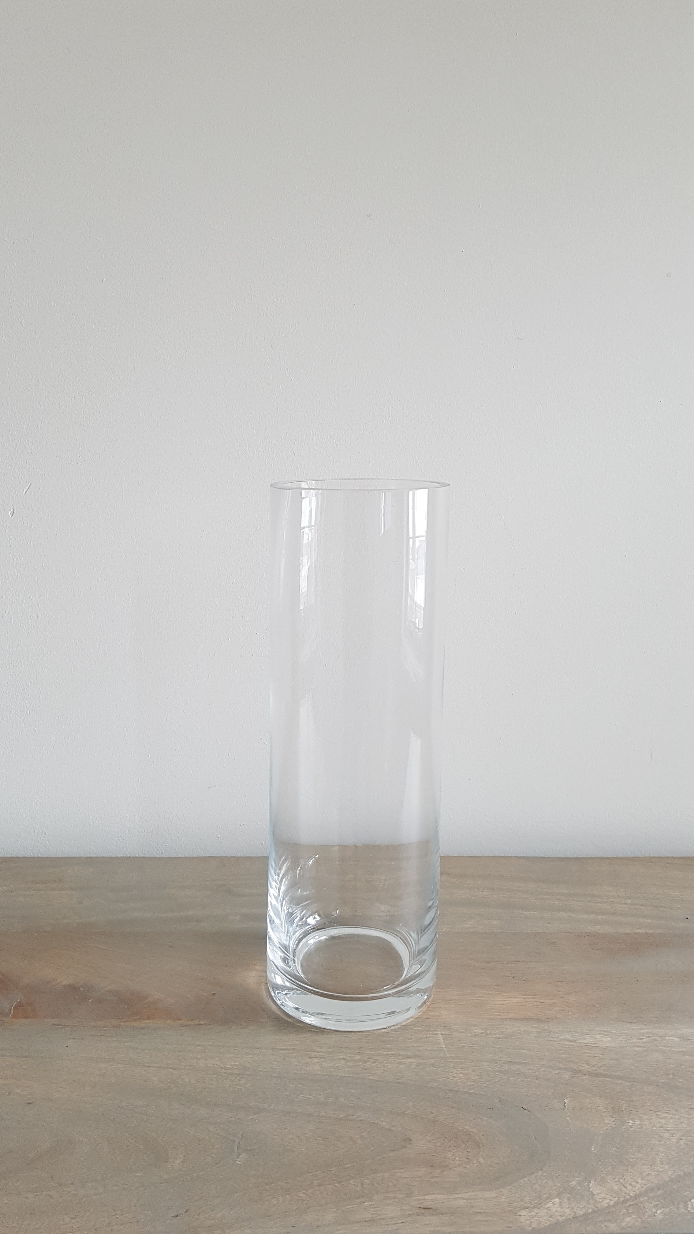 "12"" Glass Cylinder Vase - $2 each   Qty: 50"