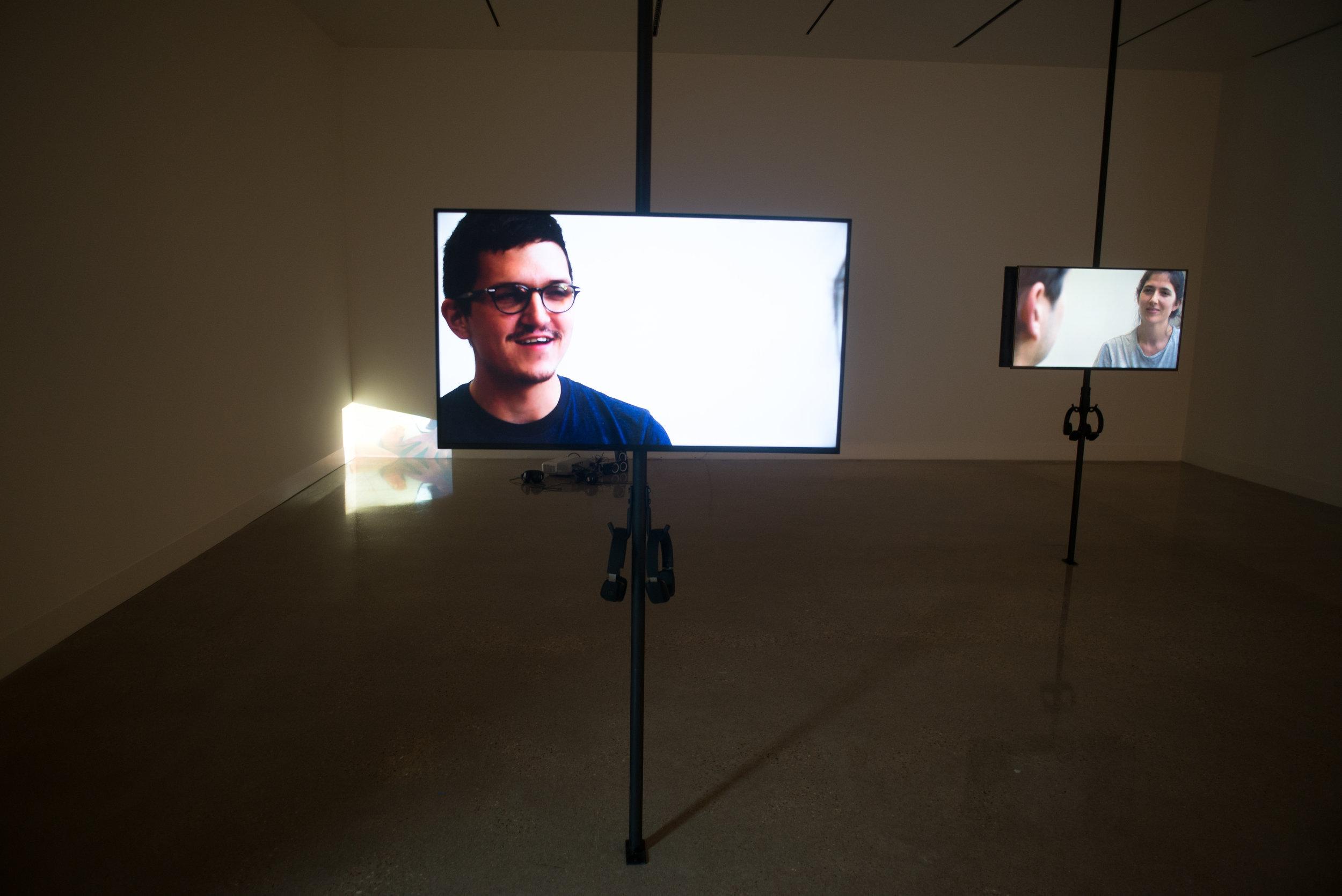 Five channel HD video installation