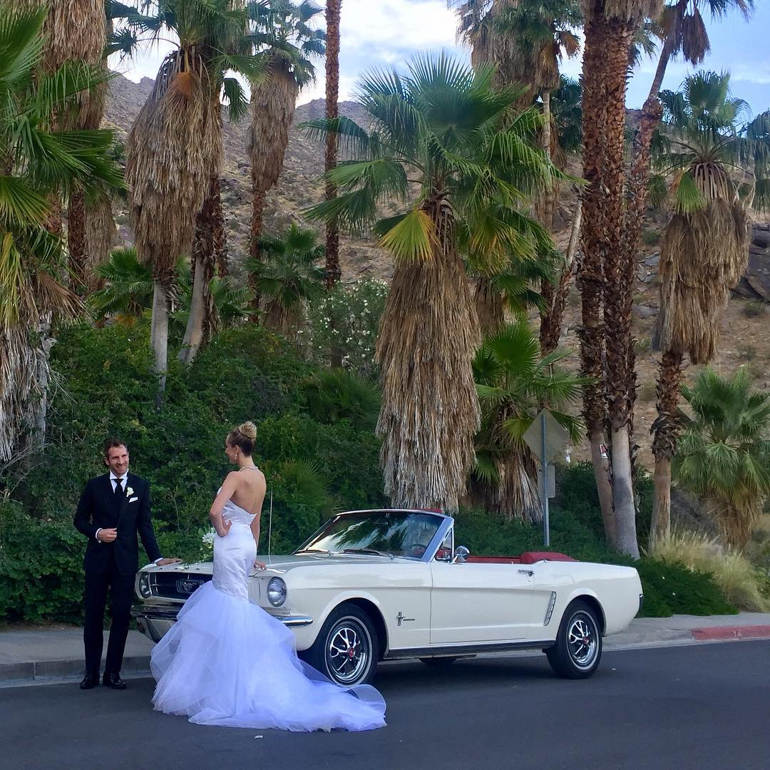 1965 Ford Mustang rental for Wedding in Palm Springs