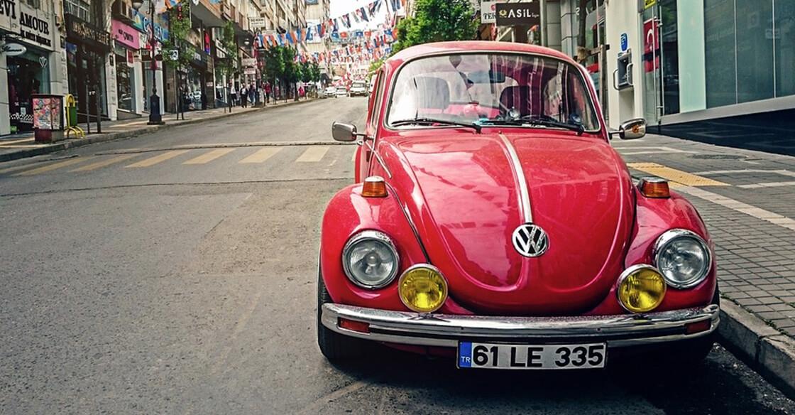 Red car volkswagen