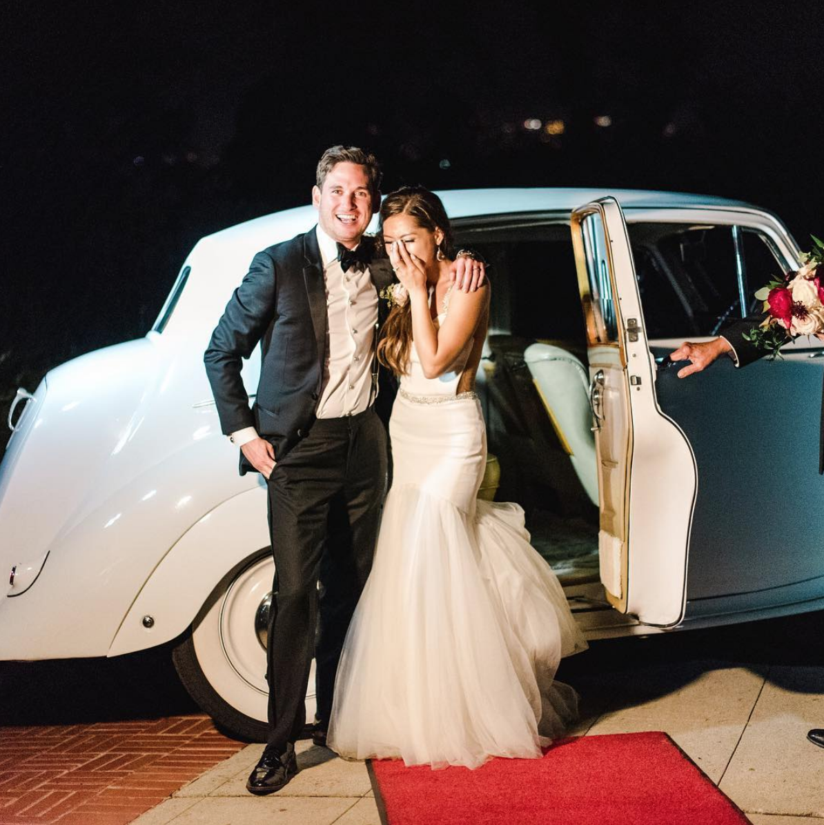 Rental Time! - Now it's the fun part! Whether you are driving the car, using the car for a photo shoot, or are being transported after the wedding ceremony – always abide by the car owner's rules and guidelines.Photo: @sanazphotography