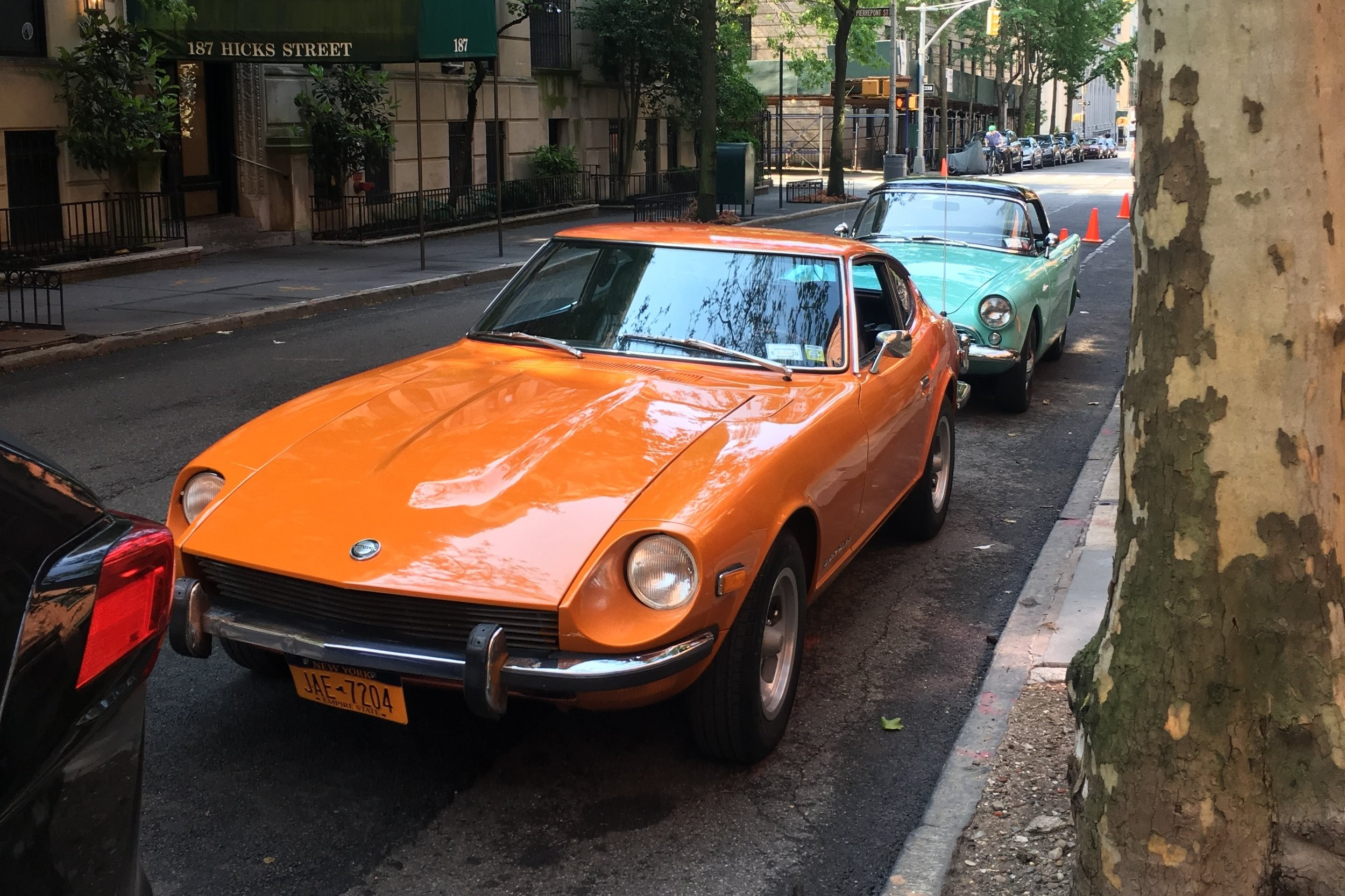 Both the  '73 Datsun  and  '60 Alpine  came from  Sunday Drivers NYGT , beatiful cars!