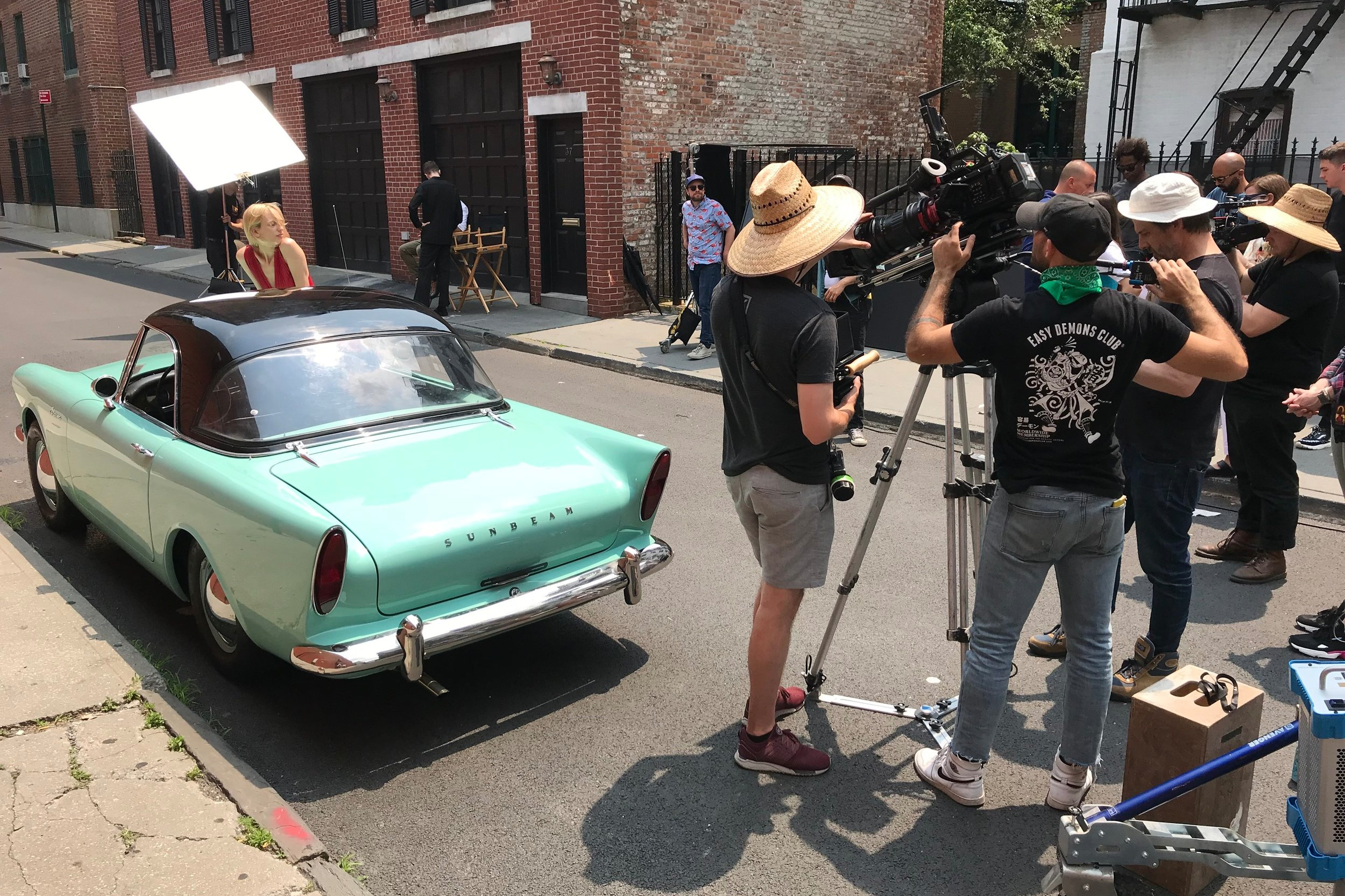 Matt's  '60 Sunbeam Alpine  shines on set.  Photo courtesy of    Sunday Drivers NYGT