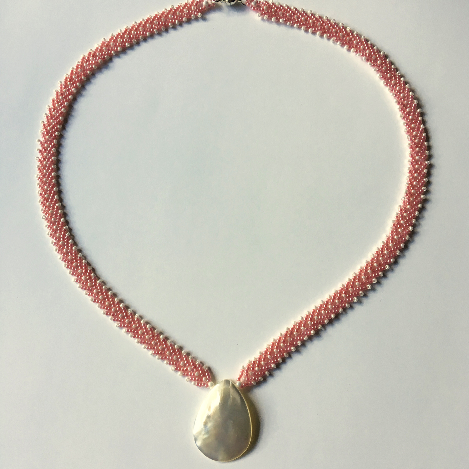 Coral and Mother-of-Pearl Necklace