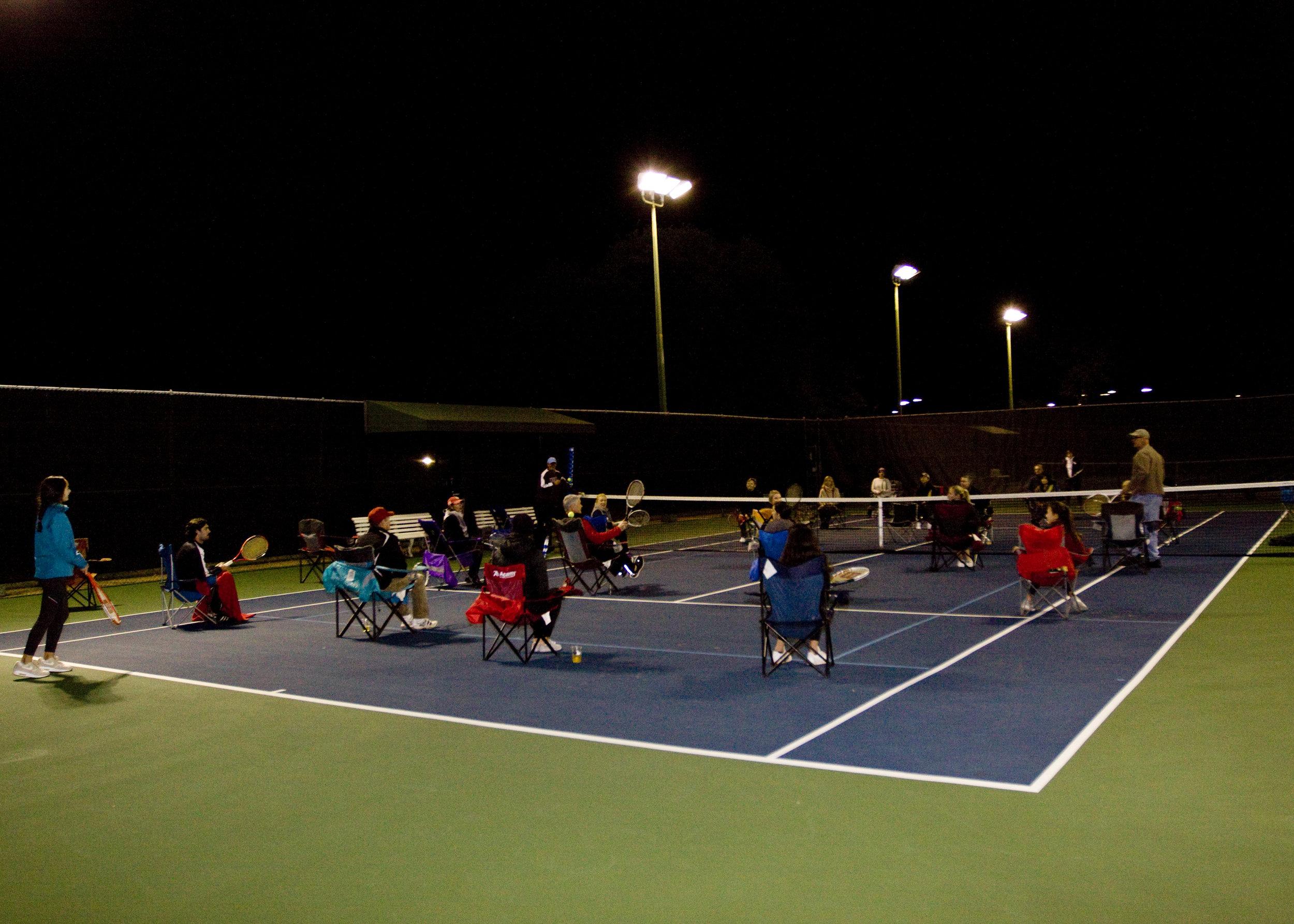 Lawn Chair Tennis Match