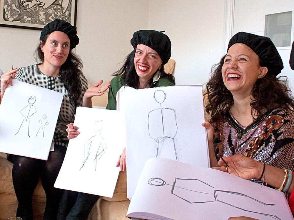 Buff Drawing   Creative art parties