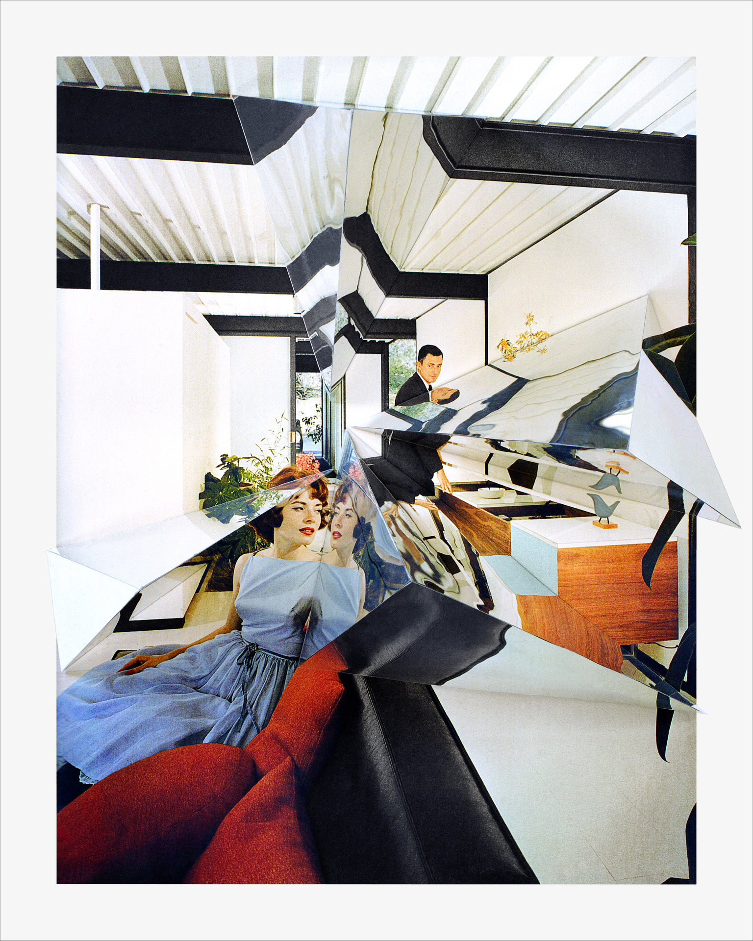 Inside, Case Study House #21 (Pierre Koenig, Julius Shulman)