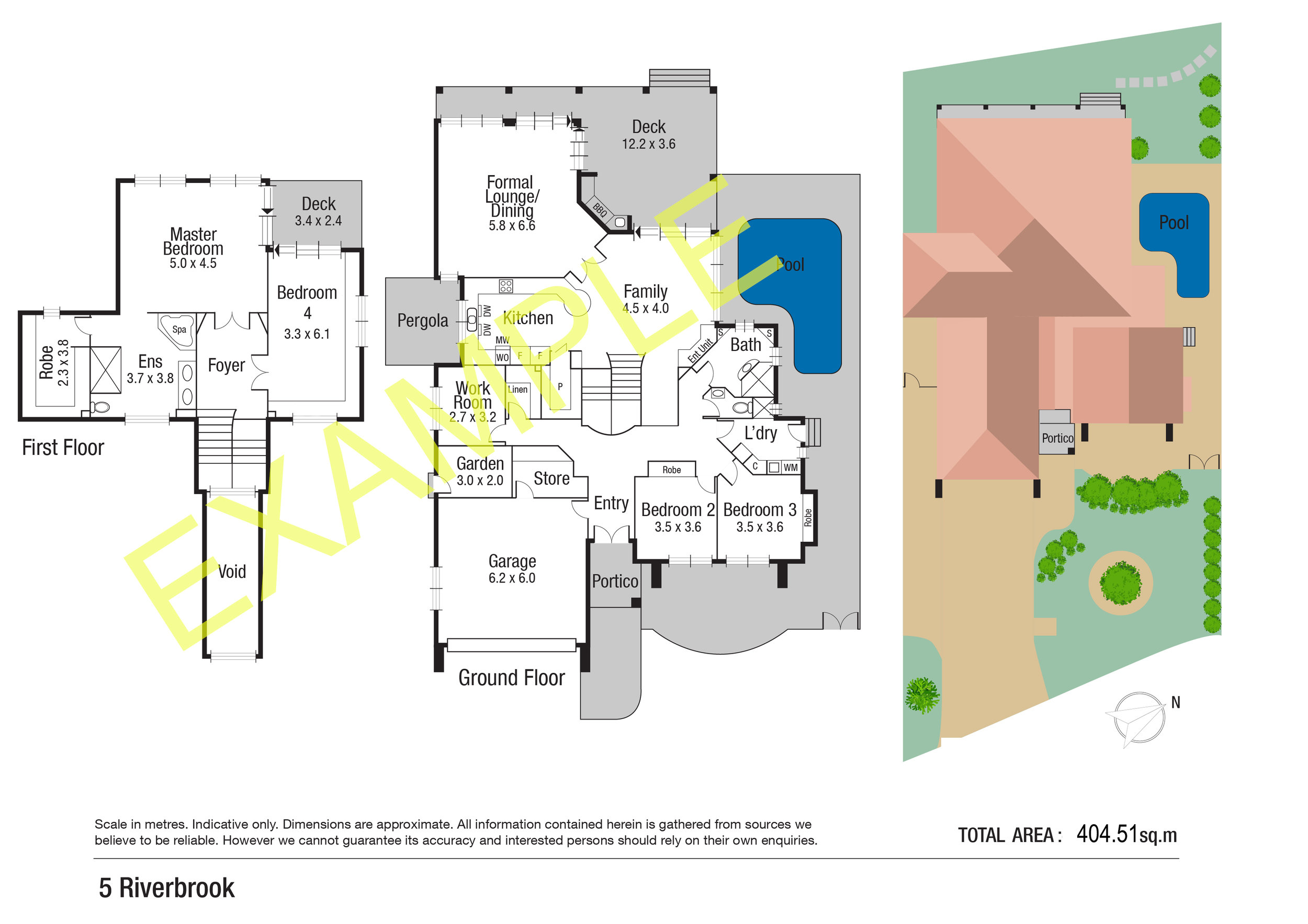 Site Plans with roof texture and landscaping $129