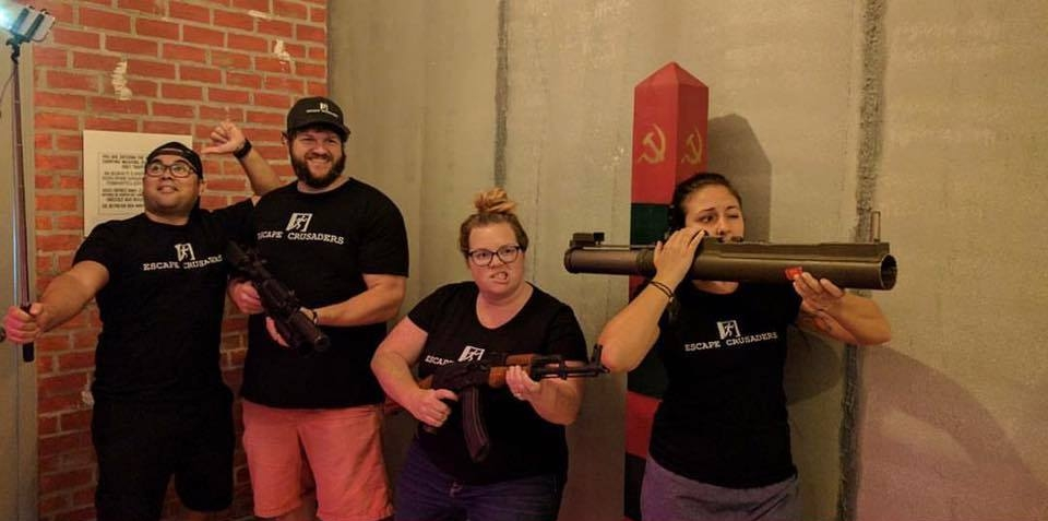 Crusaders at  Cold War Escape  in Ormond Beach FL,  CHECK OUT OUR COLD WAR REVIEW HERE