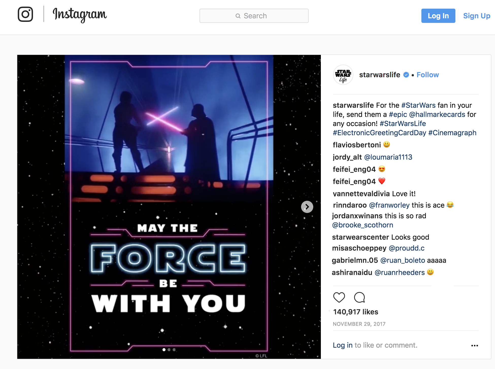 SOCIAL IMPACT - Lucasfilm liked the final product so much that they shared it on their Instagram feed