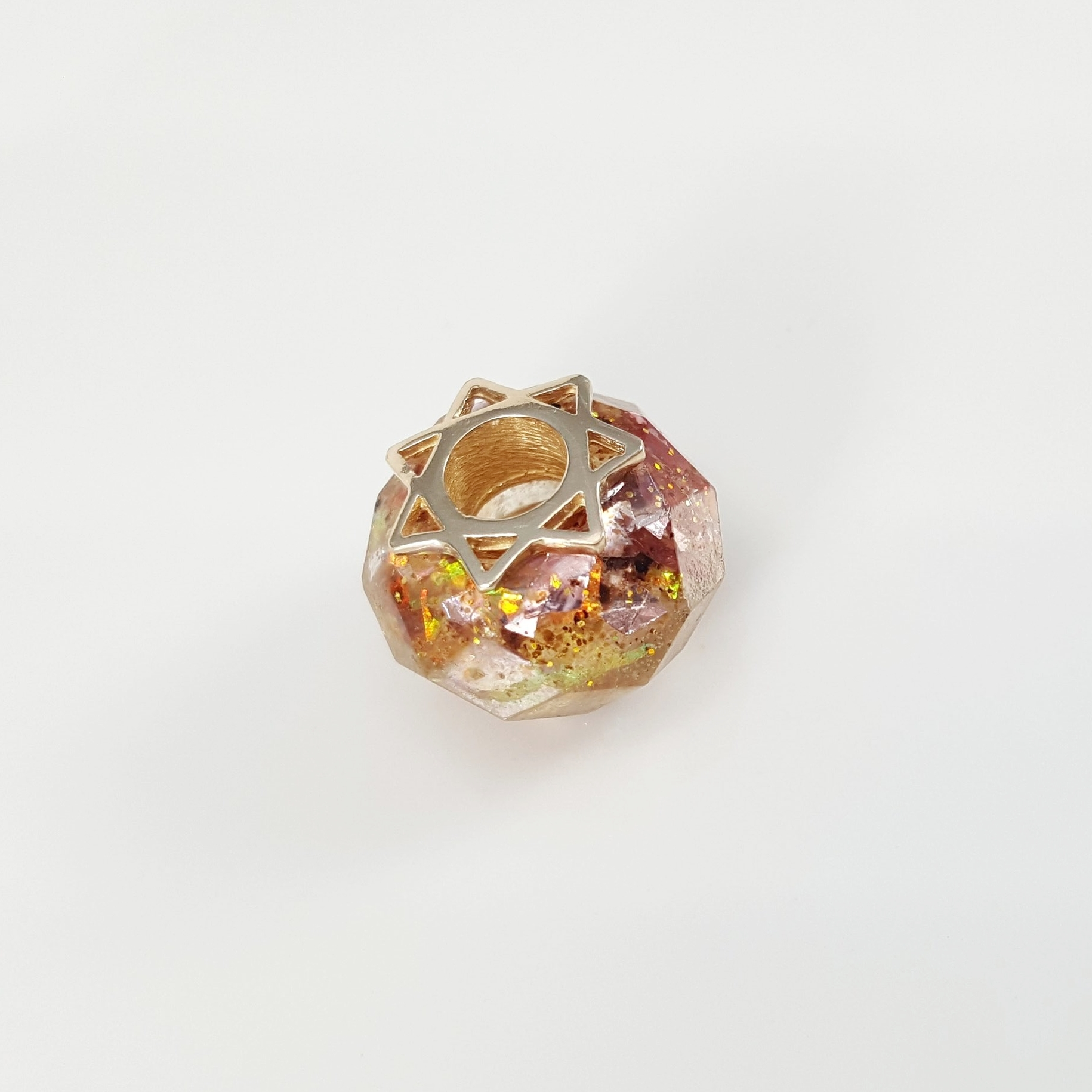 Faceted Placenta Charm Bead