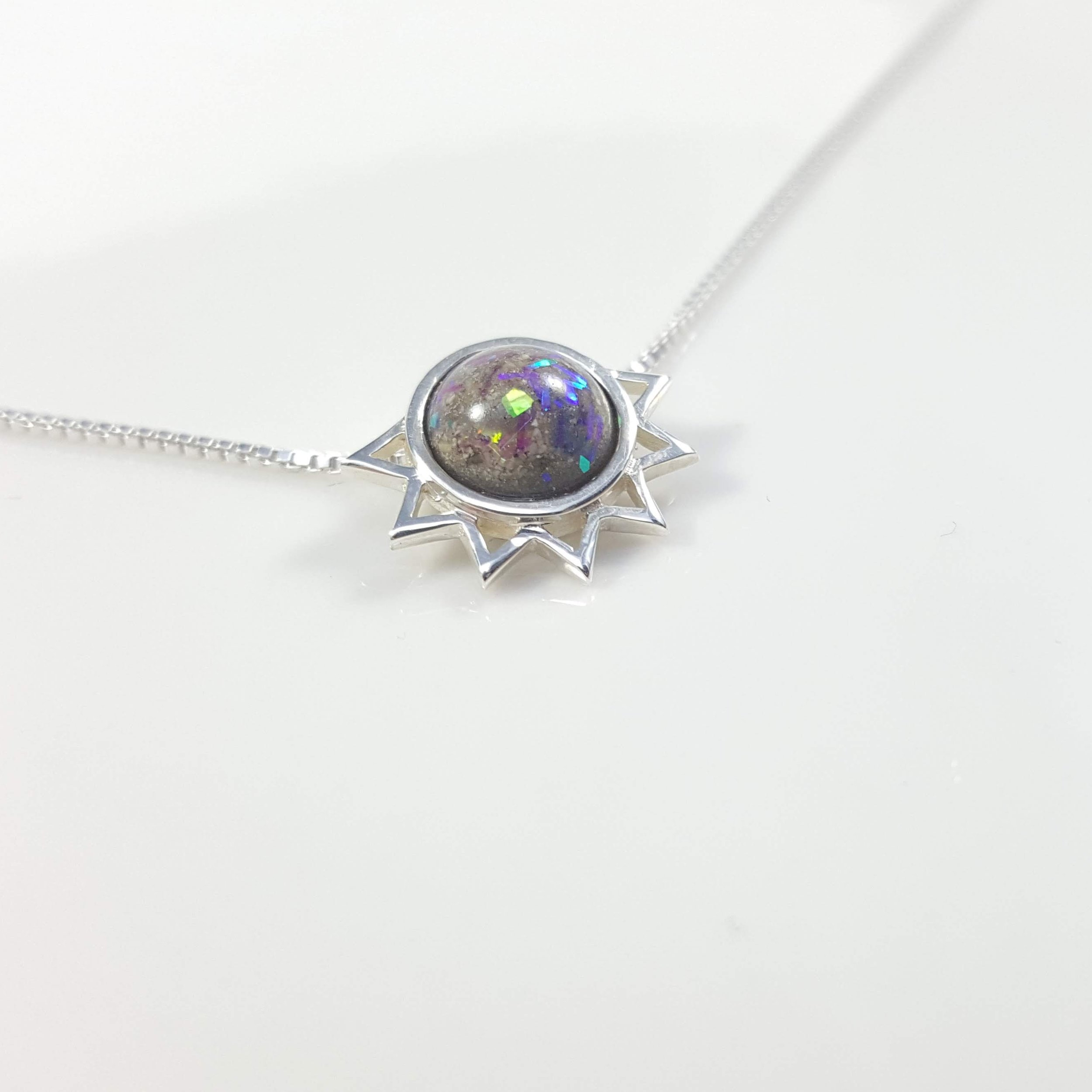 Ashes in Starburst Pendant