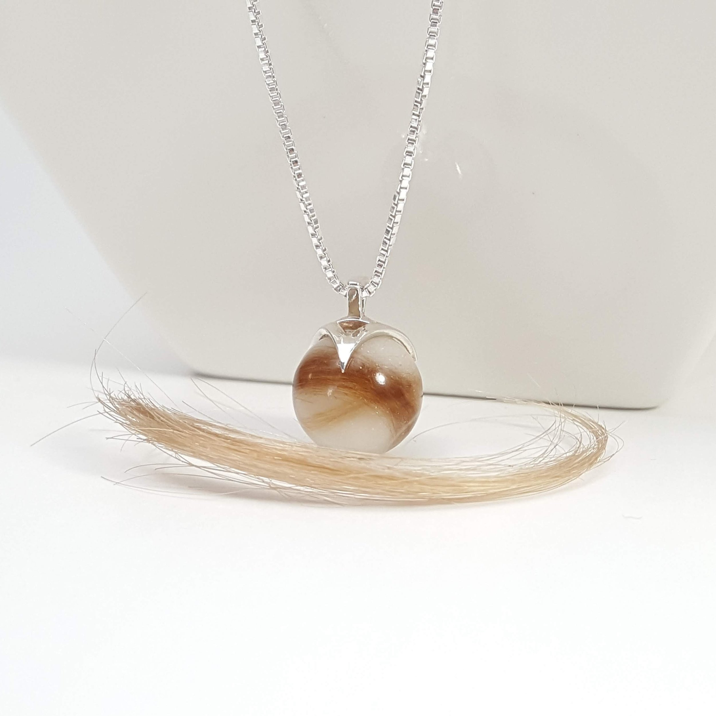 Breast Milk and First Curl in Pearl Pendant