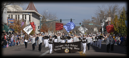 Marching Bands - Each year, the Colorado Springs Veterans Day Parade is fortunate to have some of the top high school marching bands in the city participate in the parade. A band competition is held in conjunction with the parade, and trophies are awarded for first, second, and third place. The Parade Board's goal is to have 10 high school bands participate annually in the parade. For more information contact Bev Harms at bevparalegal@aol.com. To register a band, please complete a registration form.