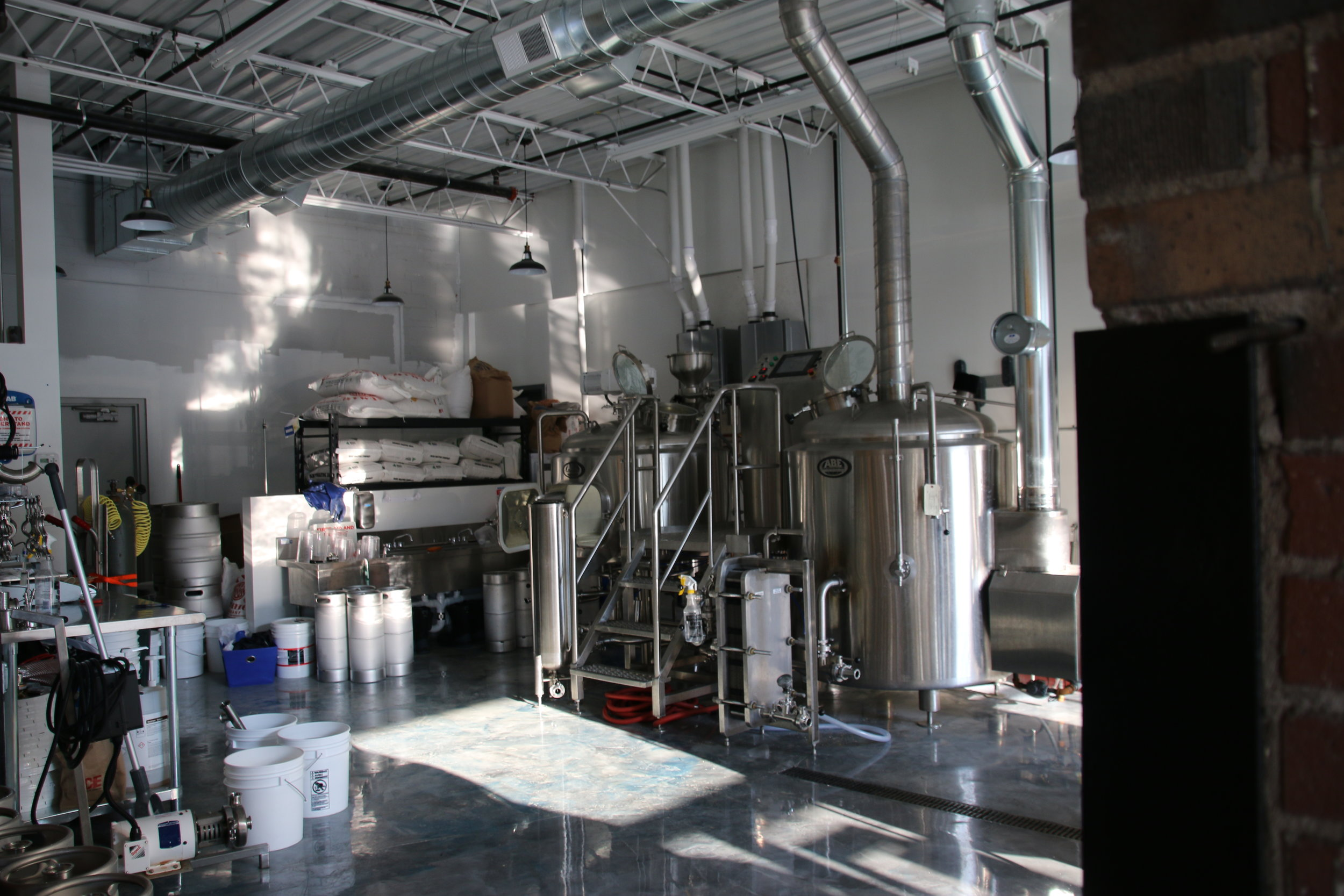 Brewery space. What a gorgeous view.