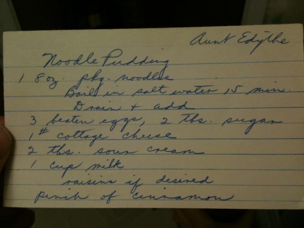 Grandma's original handwritten recipe