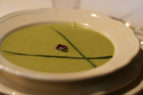 The Quintessential Soup for Locavores: Zucchini Curry soup at Moulin Brégeon  (image T. Freuman)