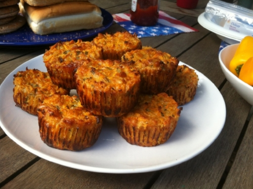 Sweet Potato Picnic Quiches (FODMAP friendly)  (image T. Freuman)