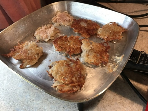 Allergen Free Latkes (Potato Pancakes)  (image T. Freuman)