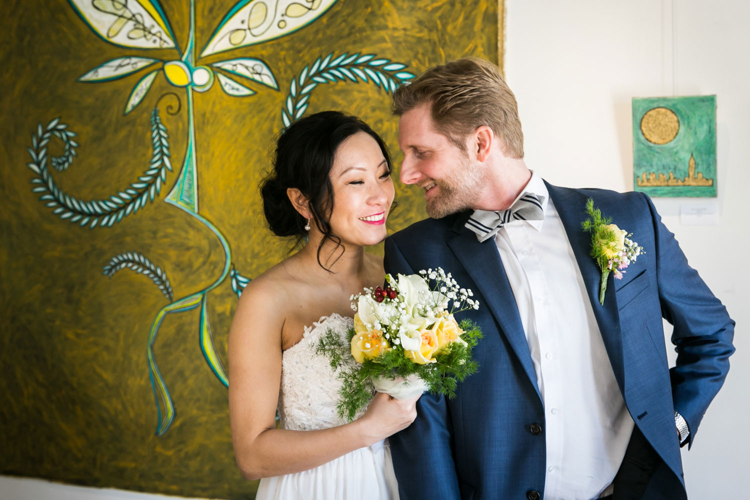 Bride and groom portrait at an Astoria wedding