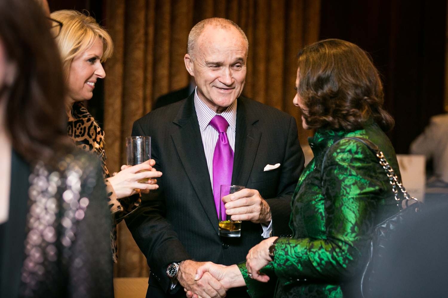 Former NYPD police commissioner, Ray Kelly, shaking hands at an event