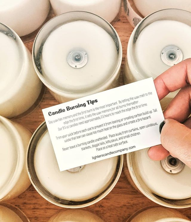 Are you getting the most out of your candle? All online orders include a little reminder on candle burning tips and tricks to get your wax burning beautifully.