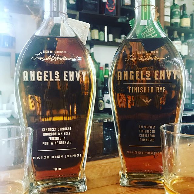 Angels Envy and kiuchu no shizuku (hitachino nest grain alcohol) in stock!! #angelsenvy #angelsenvybourbon #angelsenvyrye #manhattansfordays #hitachino #cocktails #illtakemineneat