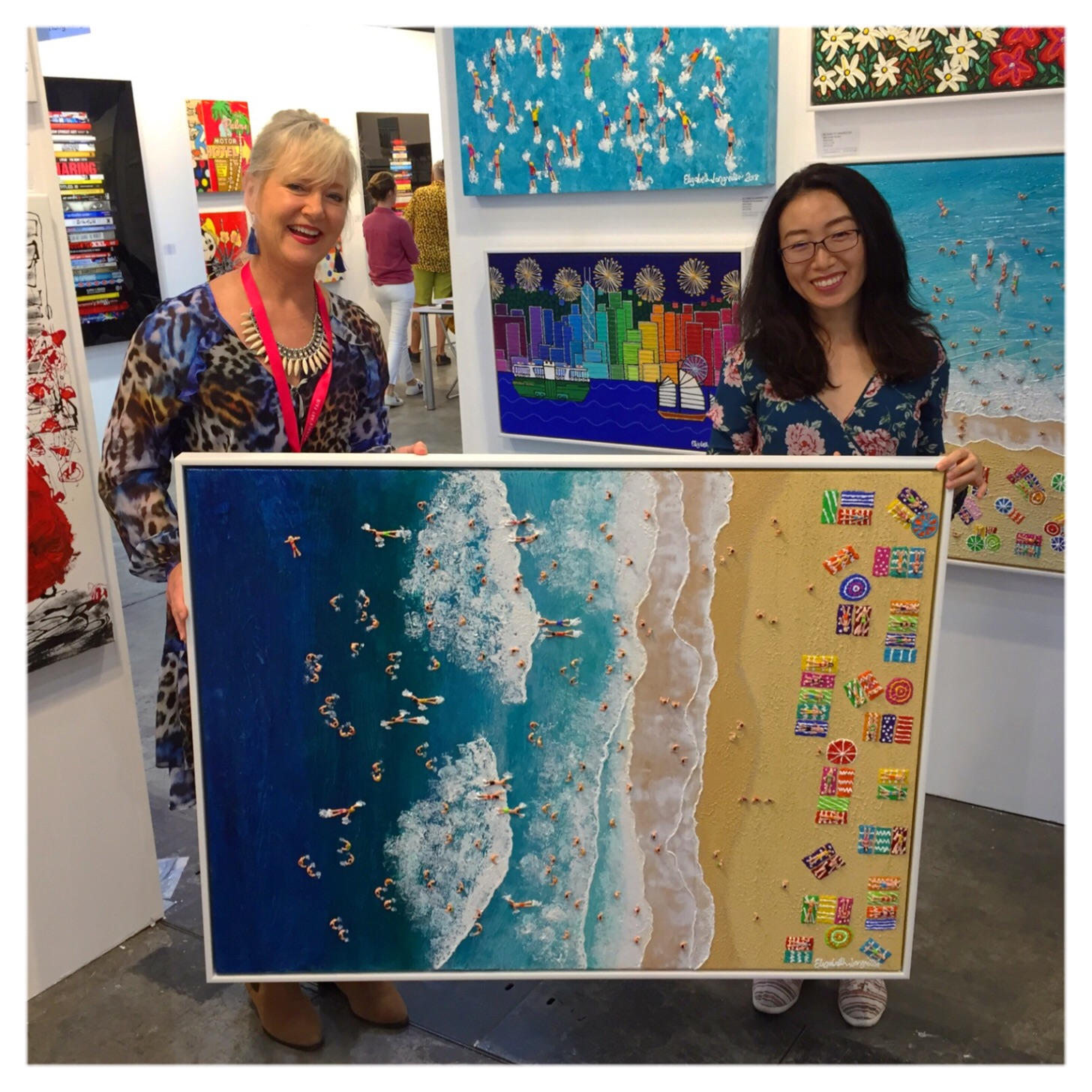 """""""Joy"""" 94cm x 124cm one of the paintings SOLD at The Affordable Art Fair Hong Kong"""