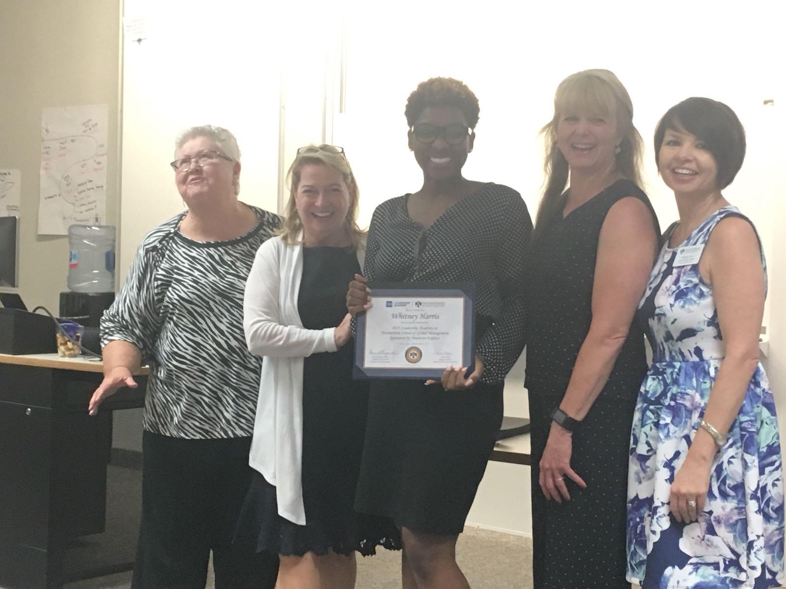 TOLF Board Member Whitney Harris with Thunderbird School of Global Mgmt Facilitators