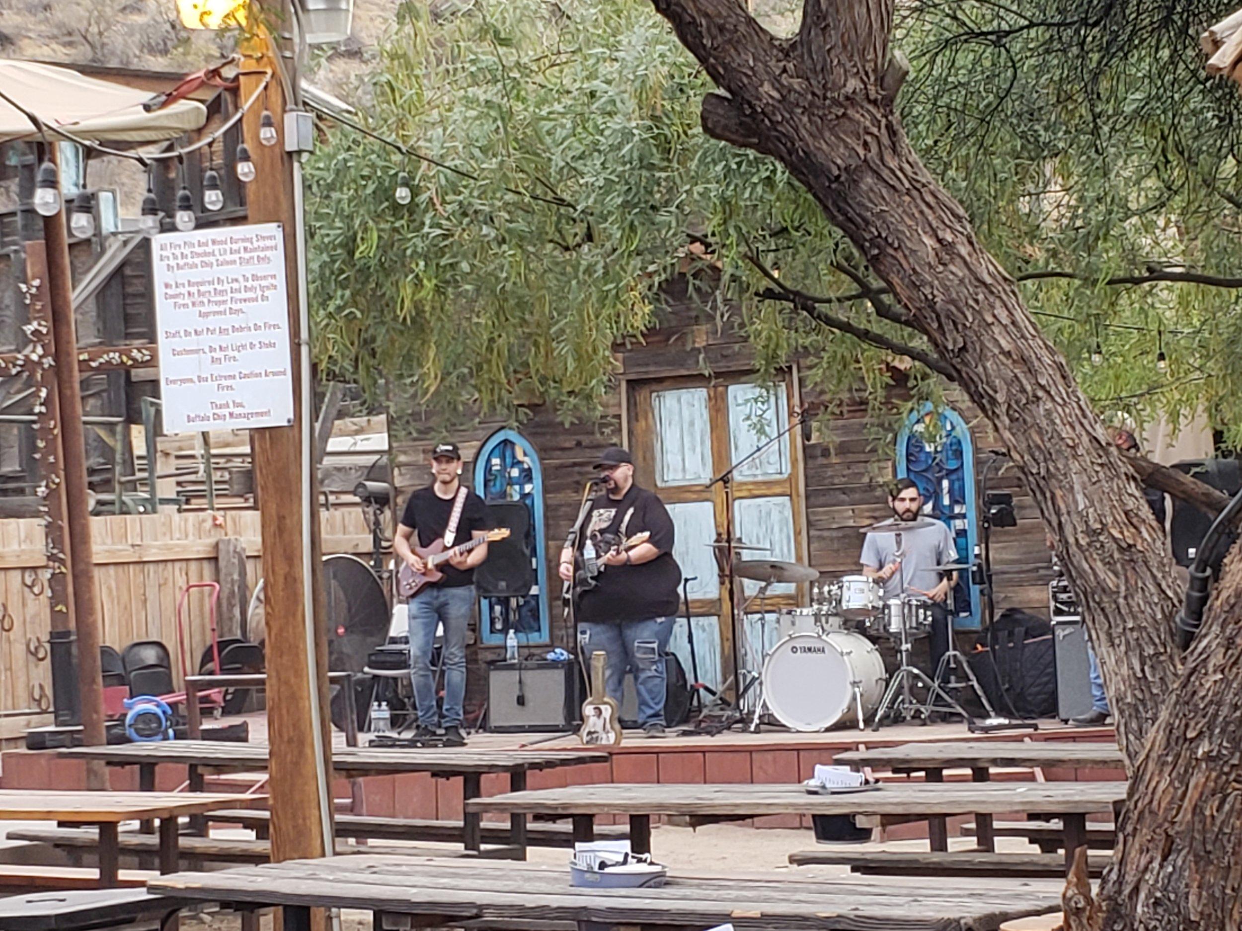 Enjoying the sounds at Buffalo Chip Saloon in Cave Creek, AZ