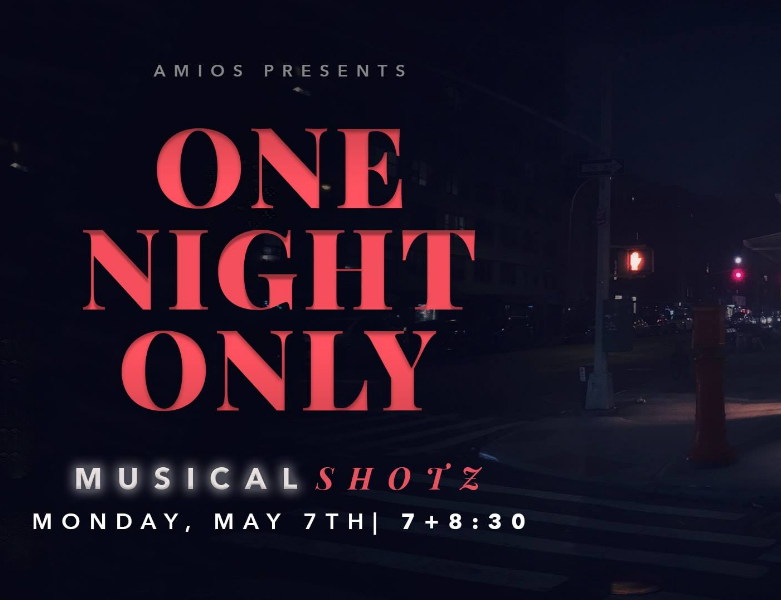 May 2018 - Caitlin is excited to participate in Amios' Shotz! for the first time. Two performances on May 7th of 6 original musicals. Tickets here!