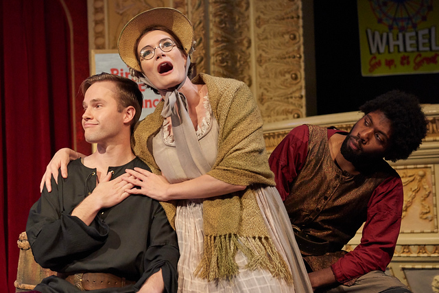 Ruth in The Pirates of Penzance. With Billy Hutto and Trevor Latez Hayes, Theater at Monmouth