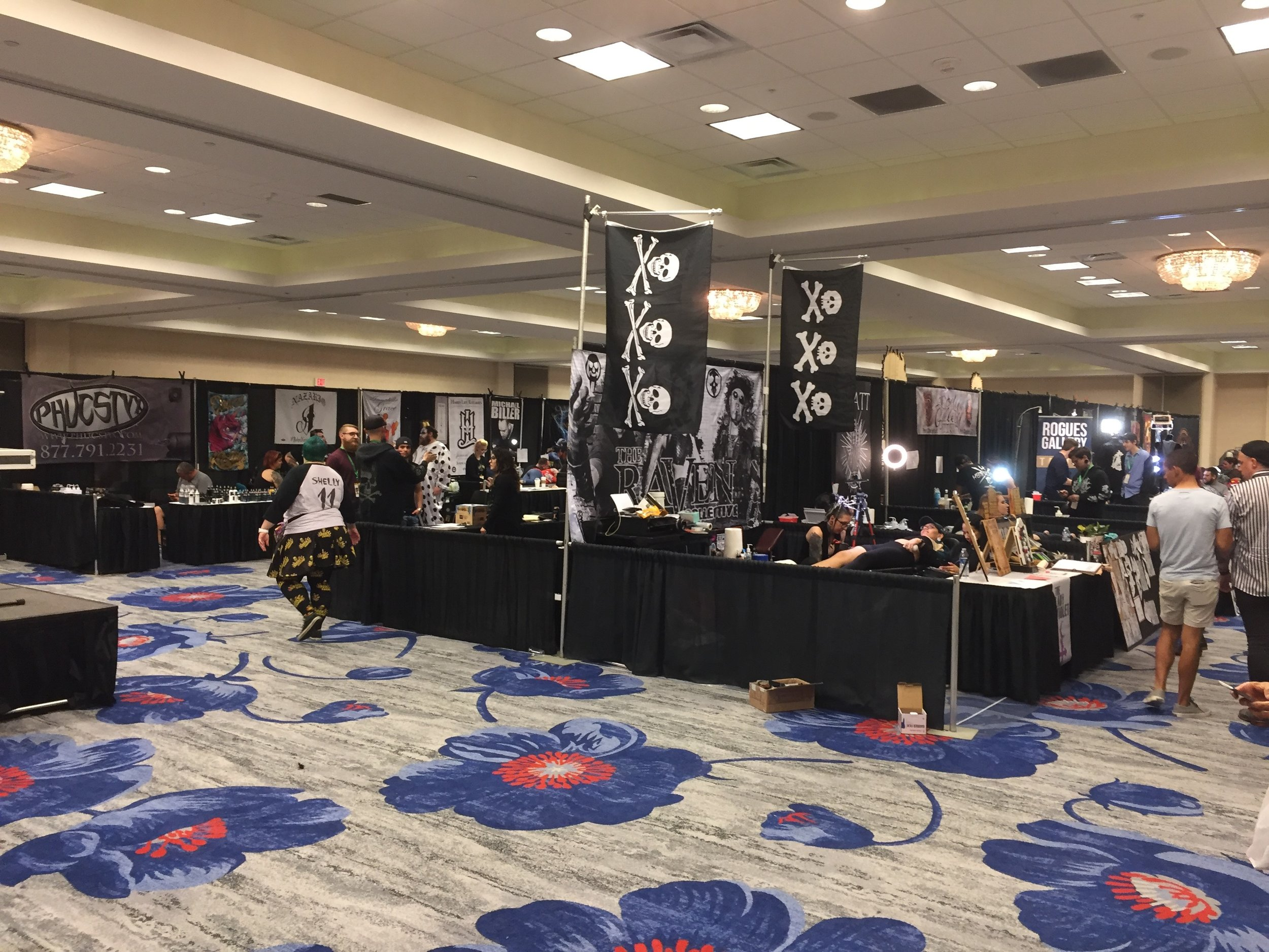 Now a common fixture at all Spooky Empire events, the Tattoo room. Daily contests are held for best piece done at the con each day.