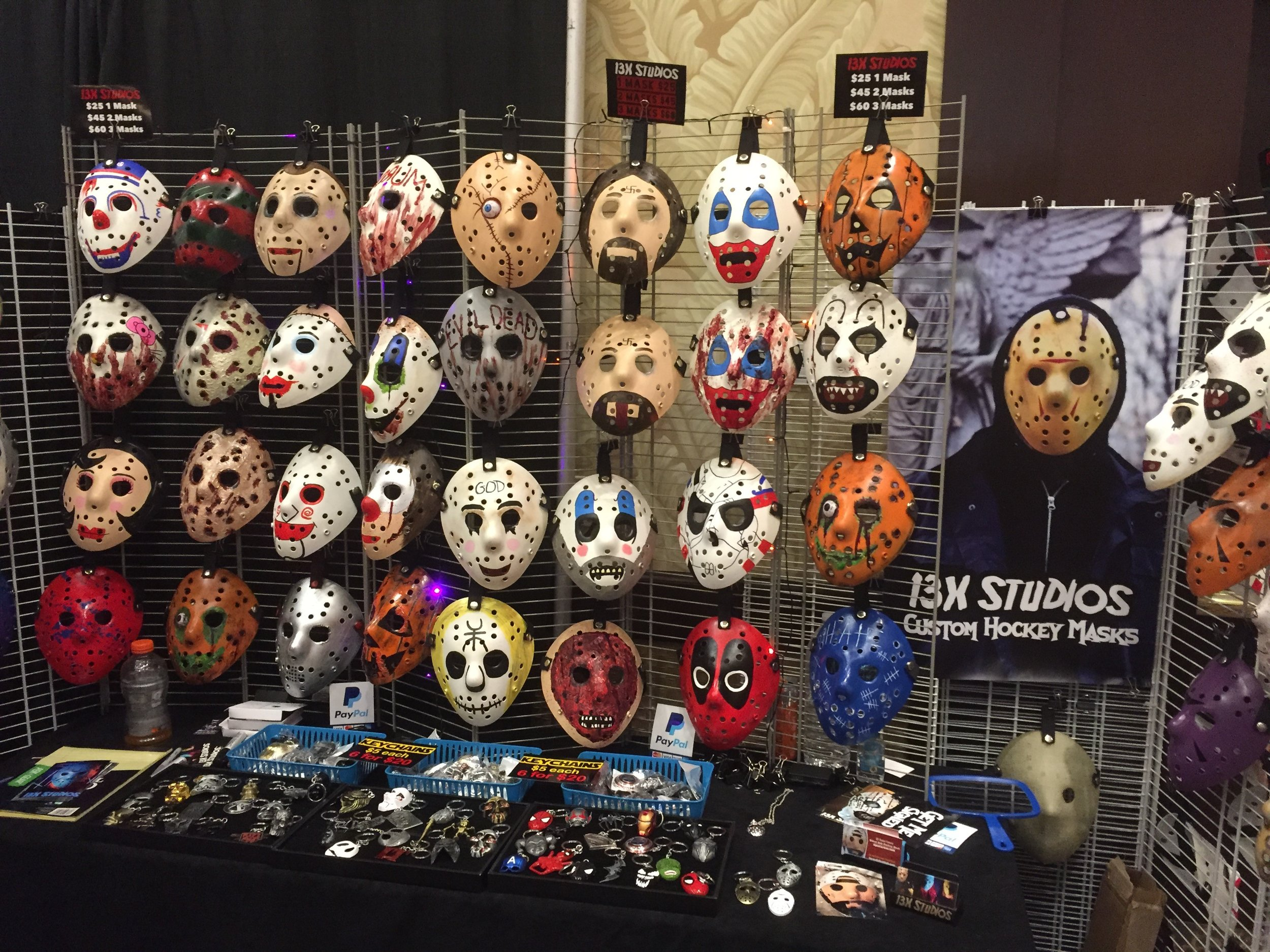 13X Studios, purveyor of custom hockey masks! They even made one for Mike Colter. Find them at  13xstudios.com