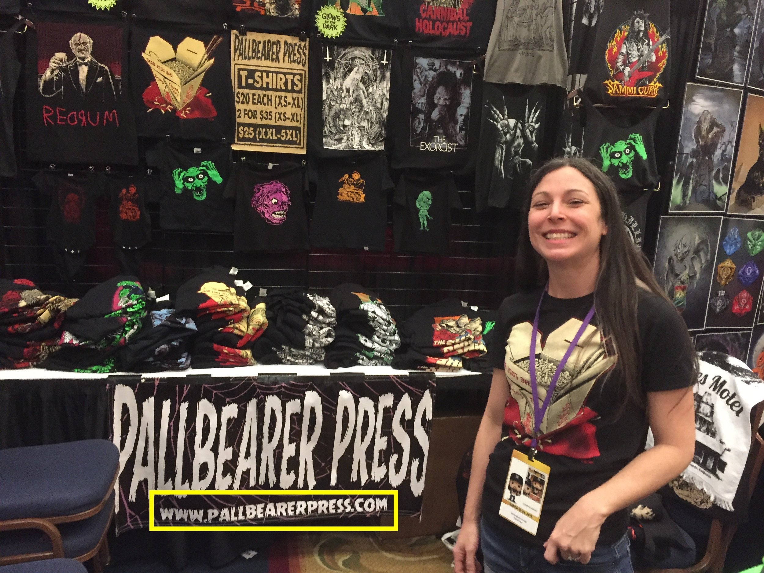 I usually pick up something from the nice folks at Pallbearer Press. I highlighted the website in the image.  Go there! Now!