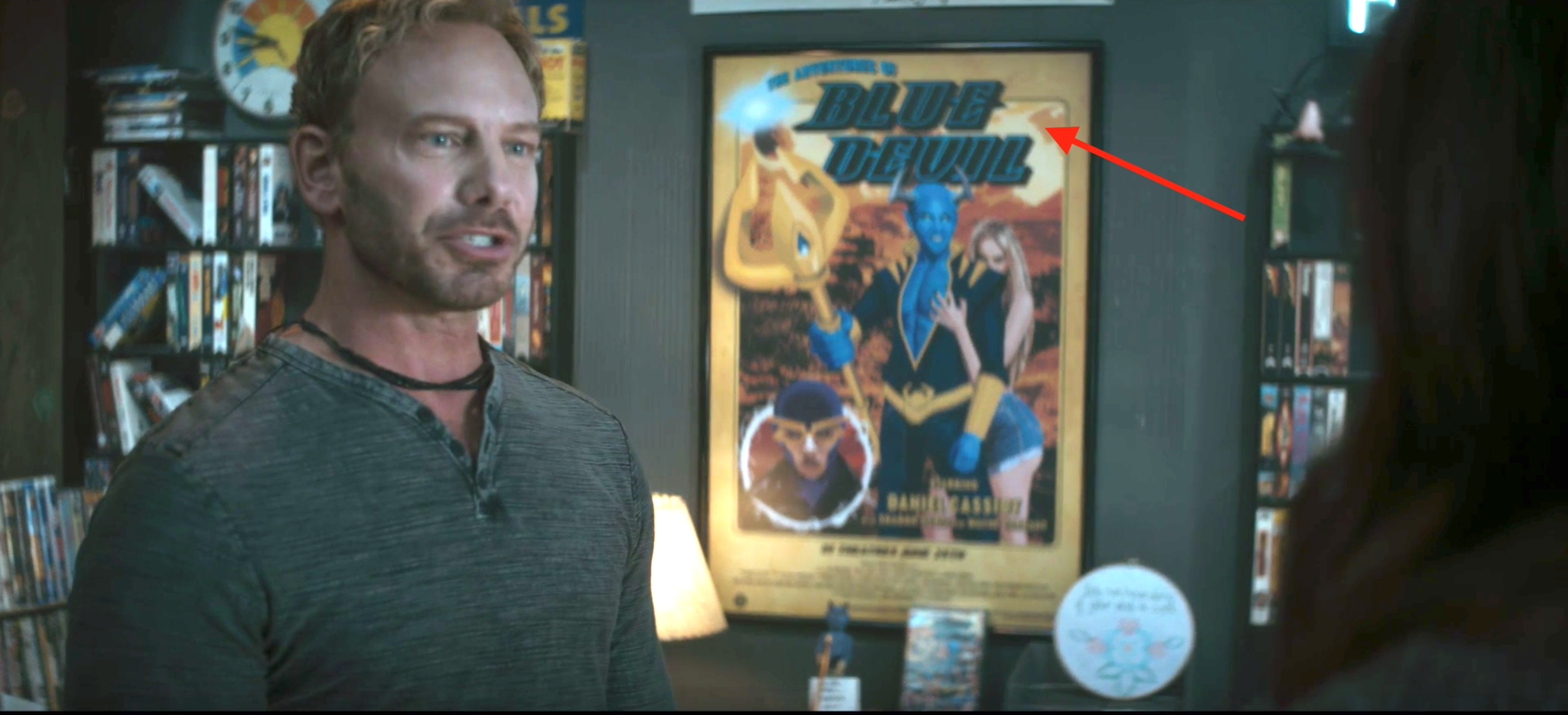 Gratuitous   Blue Devil   cameo, ladies and gentleman. And Ian Ziering!?!?!?!