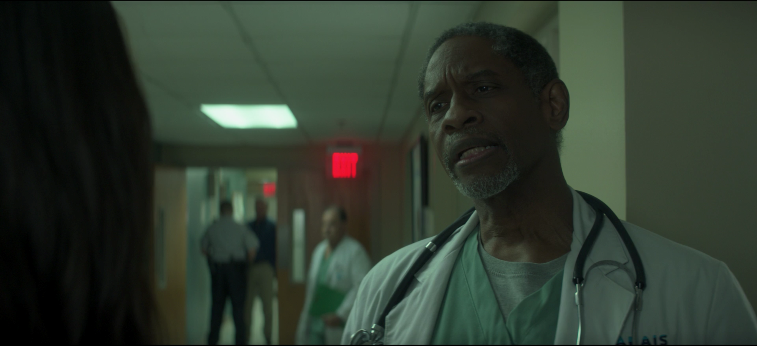 Also deserving of a screen grab after his second episode appearance, Tim Russ. Fellow Sci-Fi fans rejoice!