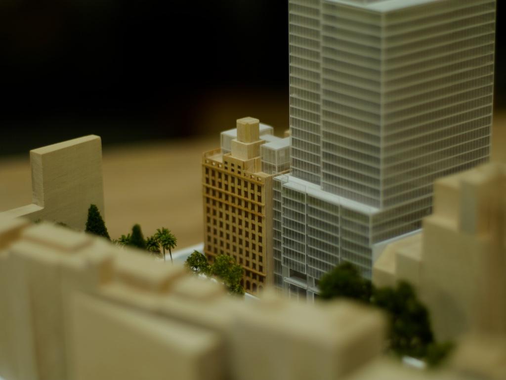 Wynard Place timber model by Porter Models