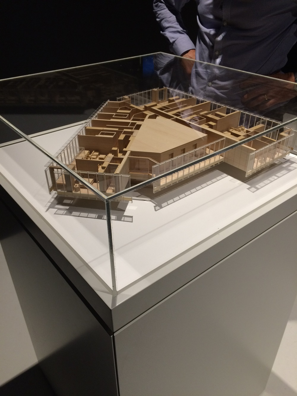 Barangaroo timber model by Porter Models