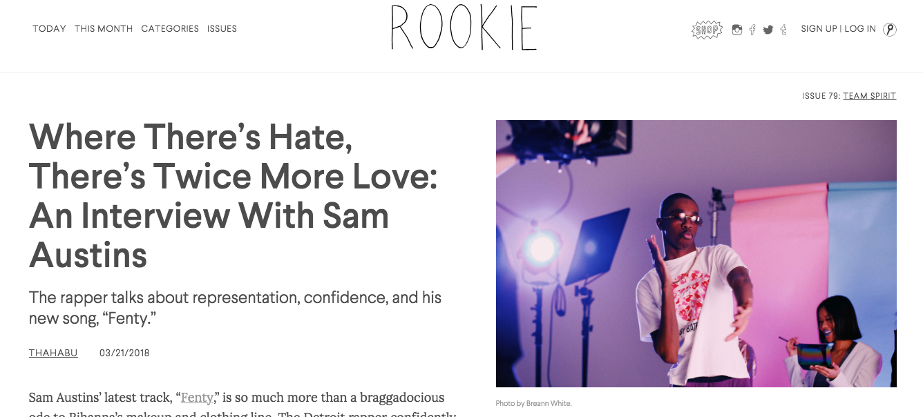 Long form interview with Rookie Mag