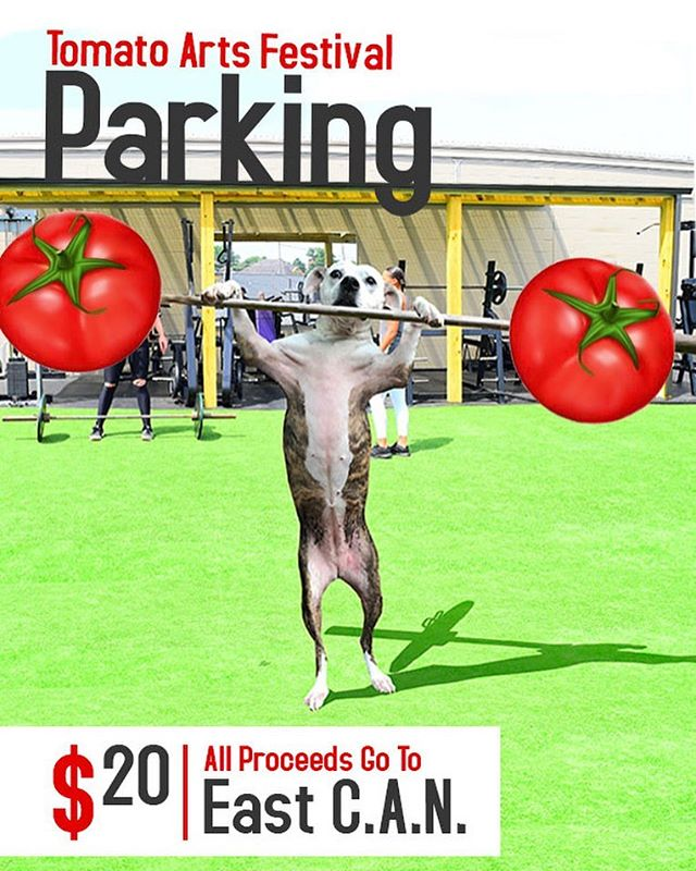East C.A.N. will be collecting $20 donations from non-members to park during Tomato Arts Festival.