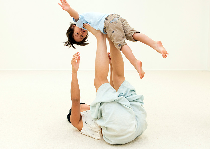 Toddlers & grown ups class - Run, skip, sway and roll together in this joyful class that celebrates creativity and connectedness between children and the grown ups in their lives.Read more about toddlers and grown ups yoga and dance class.