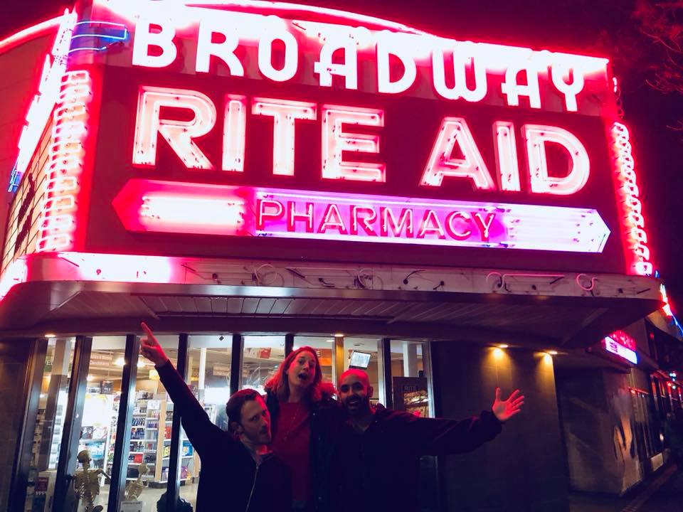 "Daniel Storrow, K.C. Novak, and Noor Kidwai living it large on ""Broadway"" during SICC 2018."