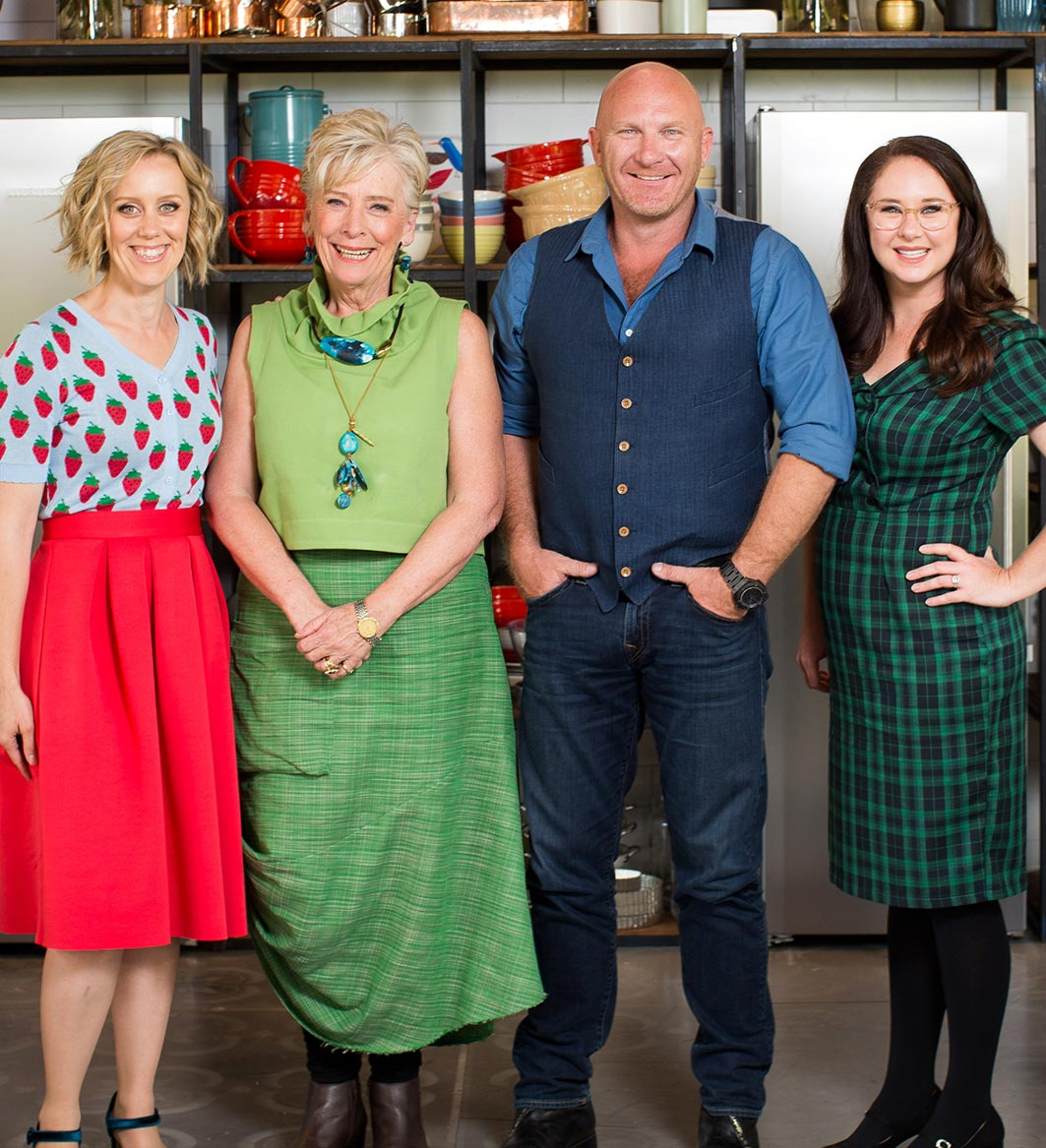 THE GREAT AUSTRALIAN BAKE OFF  Lifestyle FOOD  On your marks, get set…bake! Judged by culinary icon Maggie Beer and acclaimed chef Matt Moran, and hosted by comedians Claire Hooper and Mel Buttle, The Great Australian Bake Off follows 12 home baking enthusiasts as they are put through a series of intricate challenges to find Australia's Best Amateur Baker. Filming has finished for season four and the mouthwatering challenges will leave viewers in food heaven as our bakers make the most beautiful food creations on television.