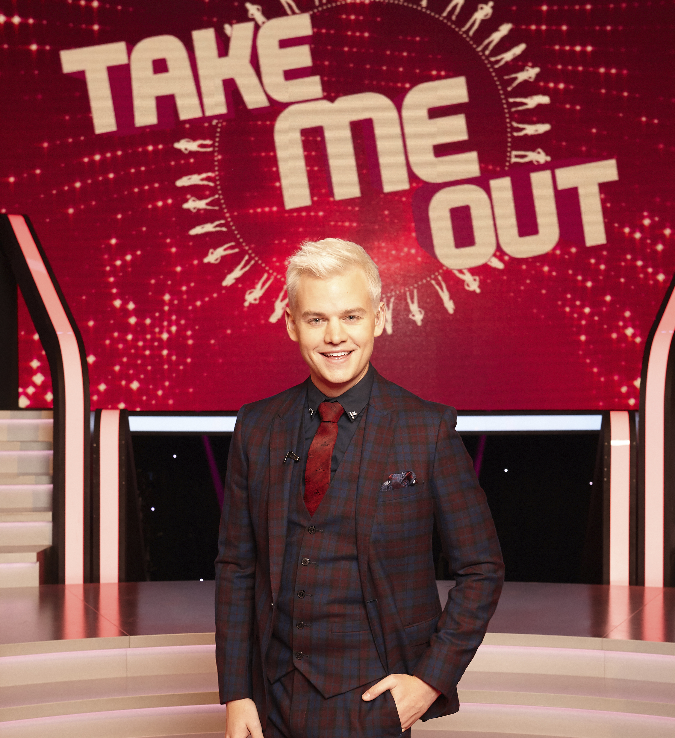 TAKE ME OUT   Channel 7  First impressions really do count in this provocative, visually spectacular and electrifyingly funny dating show. Every week, 30 ladies with attitude are introduced to several bachelors one by one. Each woman has a switch that controls her fate for a date: if she thinks it's a match, she keeps her light on; if her attraction has been short-circuited, then it's lights out and she waits for the next potential Mr. Right.