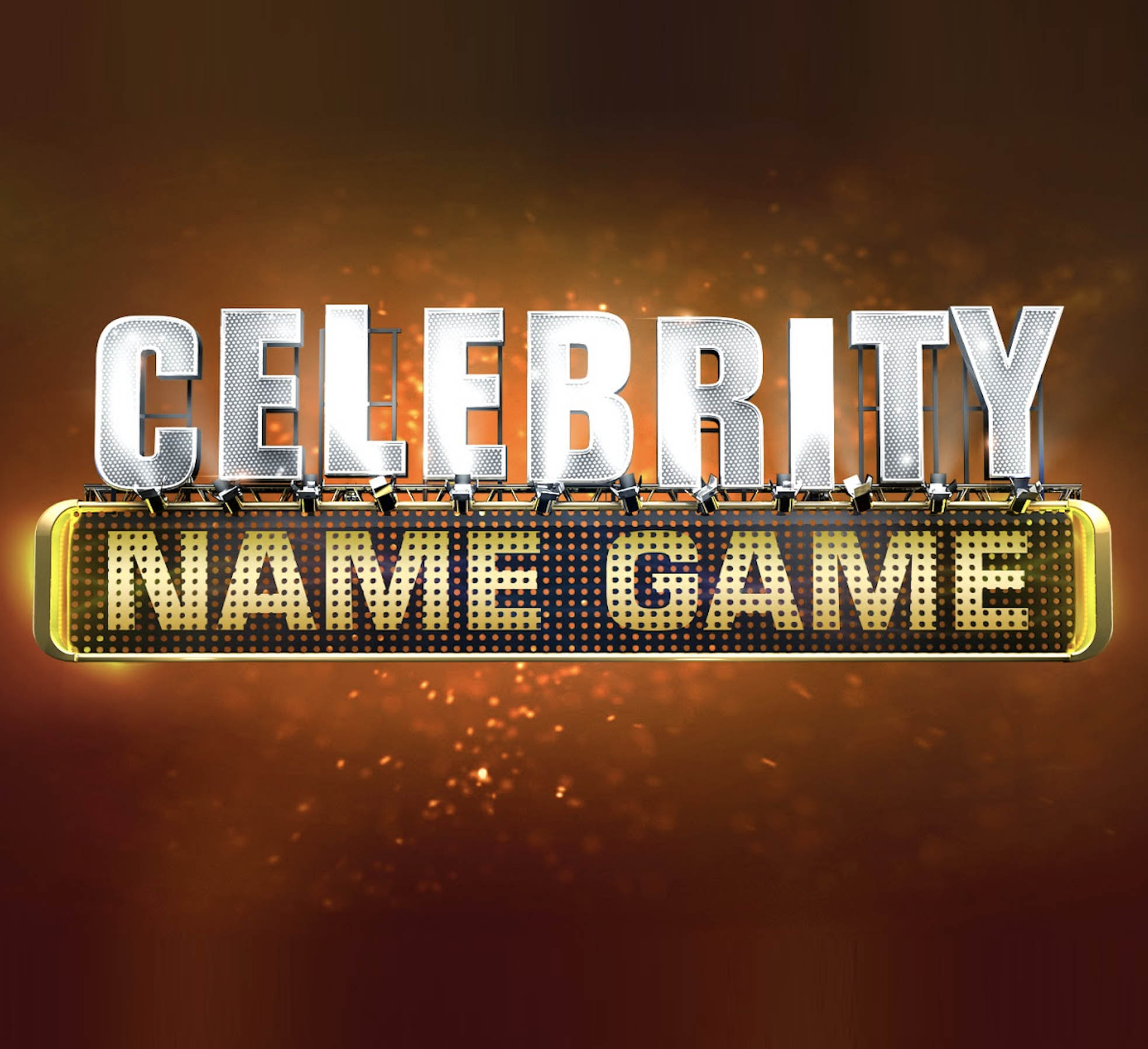 CELEBRITY NAME GAME   CHANNEL 10  Packed with famous faces, Celebrity Name Game is a fast paced game show that combines laugh-out-loud comedy with the best of pop culture. Hosted by Grant Denyer, everyday Aussies are paired with real-life celebrities in a race against the clock to identify the names of popular culture subjects - movies, sports stars, politicians, place names, pop stars or fictional characters.